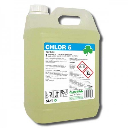 Clover Chlor 5 Bleach Solution Surface Cleaner