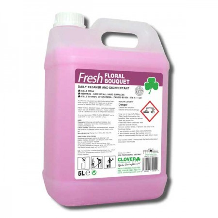Clover Fresh Floral Bouquet Antibacterial Disnfectant Floor & Surface Cleaner