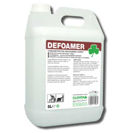 Clover Defoamer For Carpet Cleaning Machines