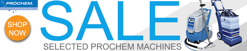 Prochem carpet cleaning machines sale advert banner