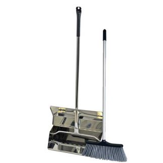 SYR Stainless Steel Lobby Dustpan & Brush