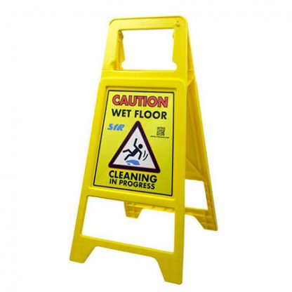 SYR Cleaning In Progress Safety Sign - Wet Floor Sign