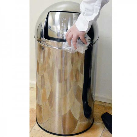 SYR Stainless Steel Push Bin 40 Litre