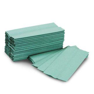 Green C Fold Hand Towels
