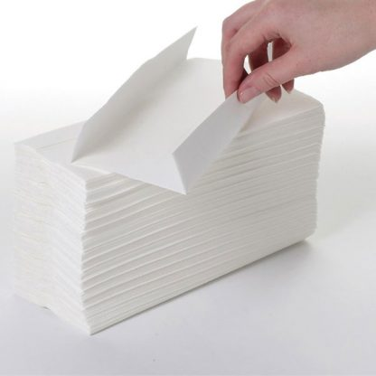 White C Fold Hand Towels