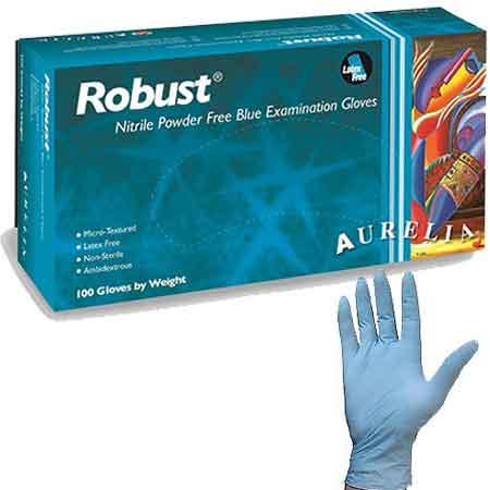 Bold Nitrile Powder Free Black Disposable Gloves