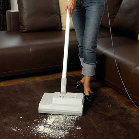 Sebo Duo Carpet Pile Brush Dry Cleaning Machine In Action