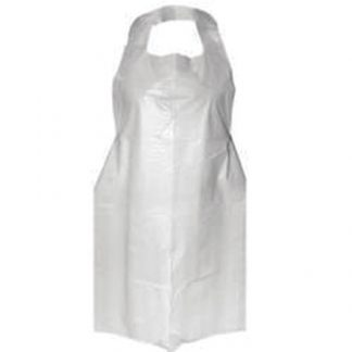 Apron - White Polythene