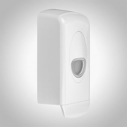 White Plastic Soap Dispenser