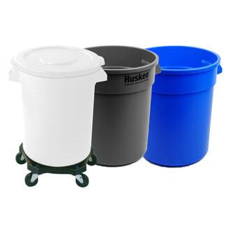 Round Huskee Plastic Food Preparation Bin 75 Litre